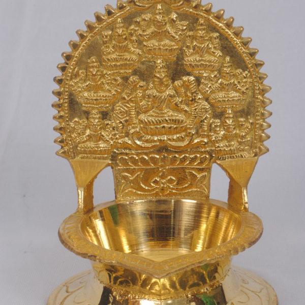 Spiritual Astalakshmi Medium Brass Vilakku